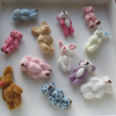 Mini Party Assortment Bears/Bunnies Party Bag/Favor/Baby Shower Gift Dolls House