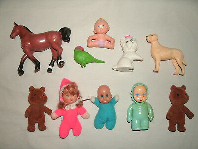Mixed Lot of Small Vintage Dolls and Animals