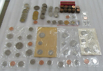 Canada Collector Lot of $36.50 Face Value Coins & $11+ Face BU Mint Set Coins