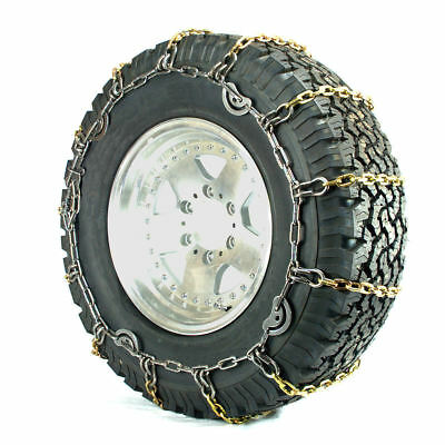 Titan Truck Alloy Square Link Tire Chains CAM On Road IceSnow 8mm 37x13.50-18