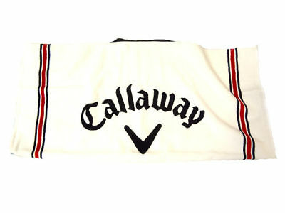 "NEW Callaway Cotton Tour White/Red/Black 30"" X 20"" Players Towel"