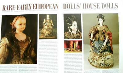 6p History Article + Color Pics -   Antique European Wax Doll House Dolls