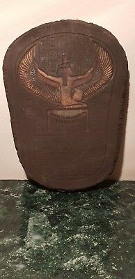 Rare Antique Ancient Egyptian stela God Isis Winged Health Wisdom 1650-1580Bc