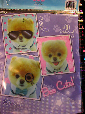 "BOO Stretchable Fabric Bookcover Fits Books Over 8"" x 10"" The World's Cutest Dog"