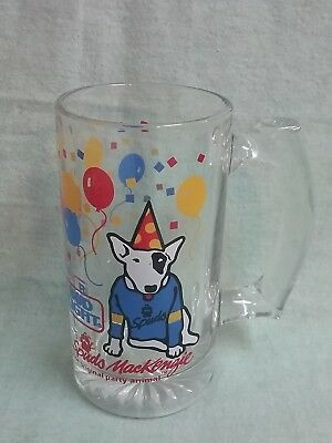 Vintage Bud Light Spuds Mackenzie Party Animal glass 1987 New Years birthday