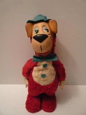 "Vtg 1959 Huckleberry Hound Dog 18"" Stuffed Plush Doll Knickerbocker Toy"