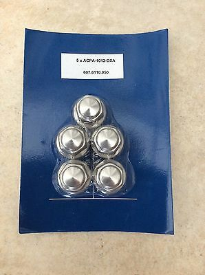 Ford B-Max C-Max chrome wheel nuts M12, Pack of 5, Part ACPA1012DXA