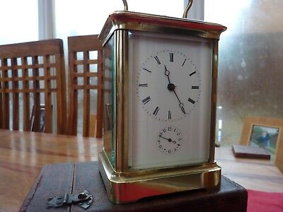 CARRIAGE CLOCK by Japy Freres  chime, repeater, plus