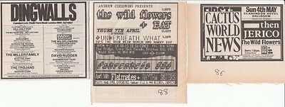 The Wild Flowers : 3 Concert Adverts