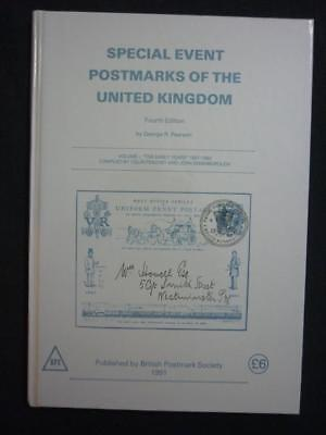 SPECIAL EVENT POSTMARKS OF THE UNITED KINGDOM by GEORGE R PEARSON