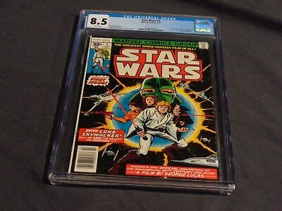 Star Wars  #1 First Comic Issue Marvel Bronze Age Cgc 8.5 Rare Look