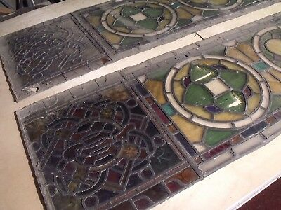 Victorian Stained Glass Window Panels. In need of repair (1850)