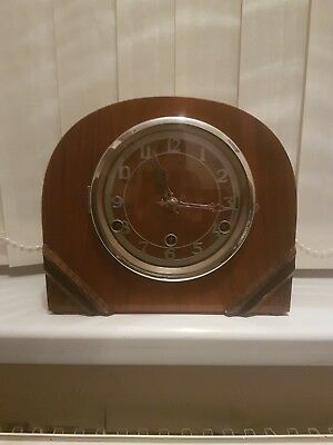 Art Deco Style Antique Westminster chiming  Mantle Clock
