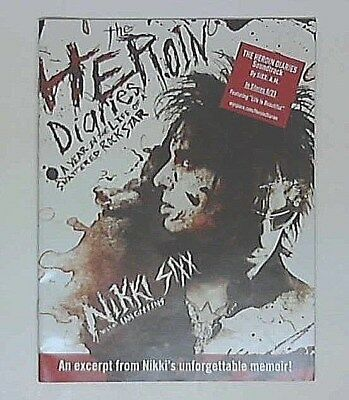 MOTLEY CRUE NIKKI SIXX radio Promo for Heroin Diaries book and CD promotional