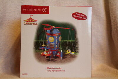 Rare Department 56 Village Carnival - Flying High Space Planes - Nice!!