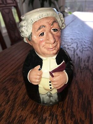 Royal Doulton Doultonville MR LITIGATE the LAWYER legal document toby jug