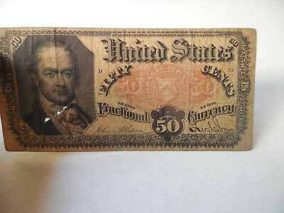 1875 Fractional Currency Fifty Cents 50¢ U.S. Fractional Paper Money Bill Note