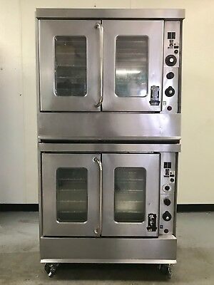 Double Stack Gas Convection Ovens Montague 115A Commercial Bakery Oven