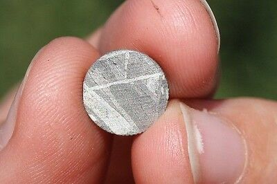Meteorites for jewelry etched super thin circle! 10mm X 10mm
