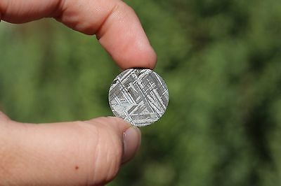 Meteorites for jewelry etched super thin circle! 20mm X 20mm