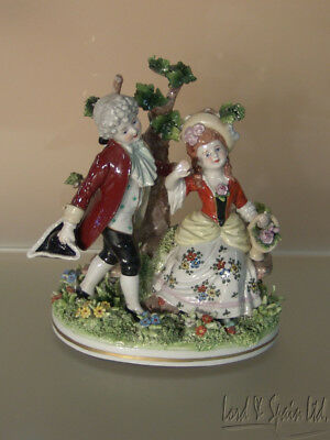 Kister Scheibe-Alsbach German Courting Couple Man & Woman Figurine