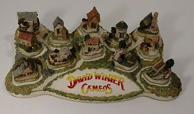 David Winter Cameo Cottages FULL SET OF 12 CAMEOS & DIORAMA BASE COMPLETE 1991