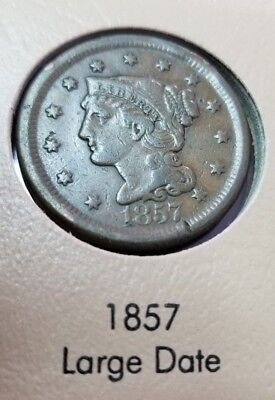 1857 Large Cent Coin ~ LARGE DATE ~