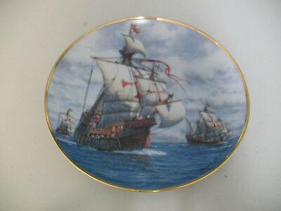 "Vintage ""The First Voyage"" Limited Edition Plate by American Geographic Society"