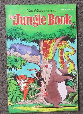 "Walt Disney's ""the Jungle Book"" 1990 Reprint Of 1967 Comic- Vf+ 8.5 Rare Oop"