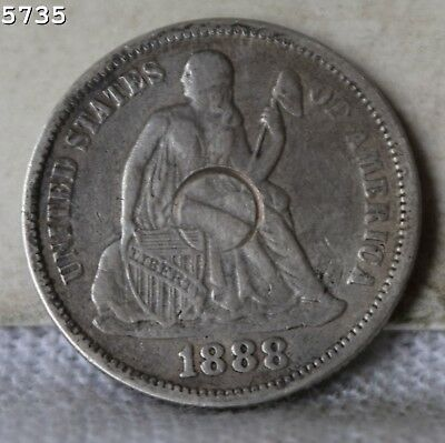 1888 Liberty Seated Dime *Free S/H After 1st Item*