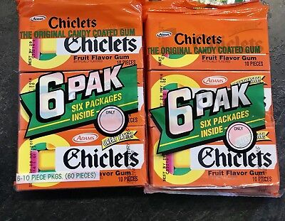 Adams Chiclets Fruit Flavor Gum - Discontinued/Expired
