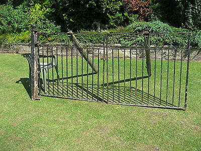 wrought iron blacksmith made gates forged not welded thick solid