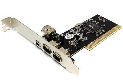 Via Chip - 3 + 1 Ports Firewire IEEE1394 iLink PCI Camcorder Cam Controller Card