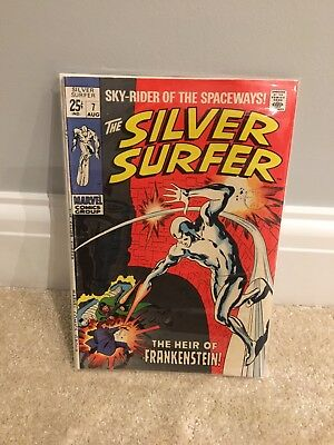 "Silver Surfer #7  - ""the Heir Of Frankenstein""  Silver Age Marvel Fine +"