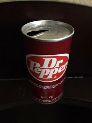 Dr Pepper Straight Steel Soda Pull Tab Can  ** No Reserve**