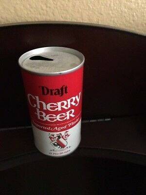 Draft Cherry Beer Straight Steel Soda Pull Tab Can  ** No Reserve**