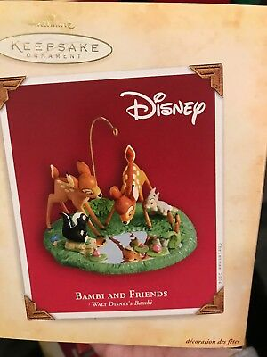 Hallmark Keepsake Ornament- Bambi And Friends- 2004- NIB- New!