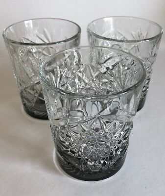 Libbey Hobstar Double Old Fashioned Glass, 12 oz Vintage Cut Glass Tumbler