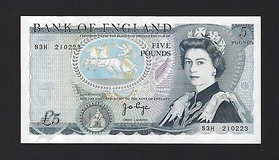 1973- 80 Great Britain Bank of England 5 Pounds, Sign: Page, P-378b, Crisp aUNC