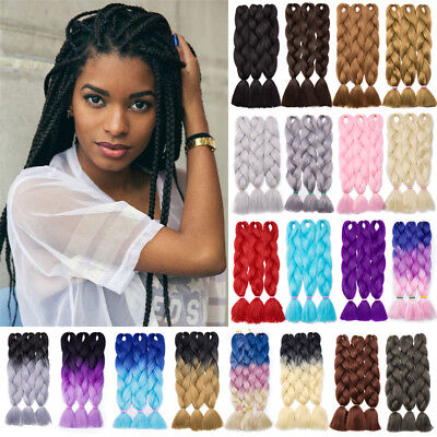"24"" Synthetic Jumbo Braiding Twist Braid Ombre Kanekalon Hair Extensions 5pcs AI"