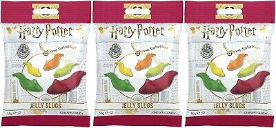 3x Jelly Belly Harry Potter Jelly Slugs Chewy Candy 56g American Sweets