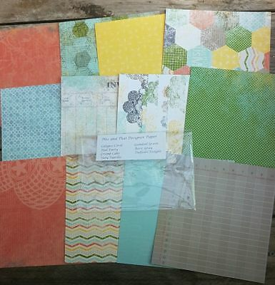 """Stampin up 6×6"""" paper share This and That 12 Sheets"""