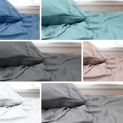 Soft Microfibre Bamboo Sheet Set - Single, King Single, Double, Queen and King