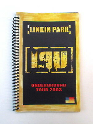 Linkin Park Underground Tour 2003 Band & Crew Itinerary Book