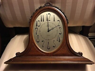Waltham Wood Art Deco Mantle Clock 1920's-1930's? Nice But Not Working Needs RPR
