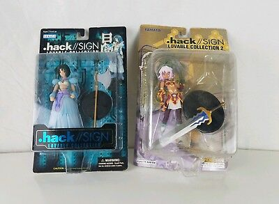 Bandai 2001 Hack/Sign Lovable Collection Black Rose and Subaru (2003) Figures !