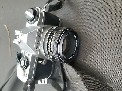 vintage pentax MG camera with extras