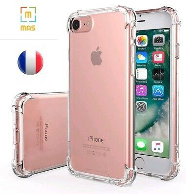 Coque Housse Bumper Iphone 7/8/Xr/Xs Max Anti-Choc,Souple,Transparent, Plastique