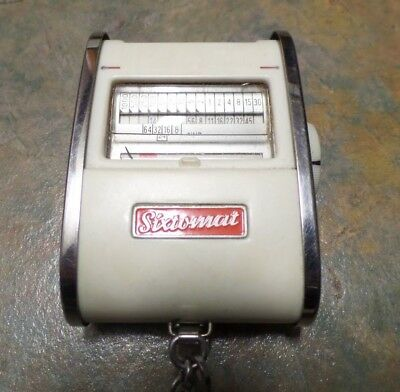 Vintage Gossen Sixtomat  Light Exposure Meter Germany 1950s with case & chain
