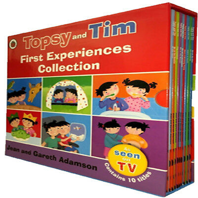 Jean and Gareth Adanson Topsy and Tim First Experiences 10 Books Collection Set
